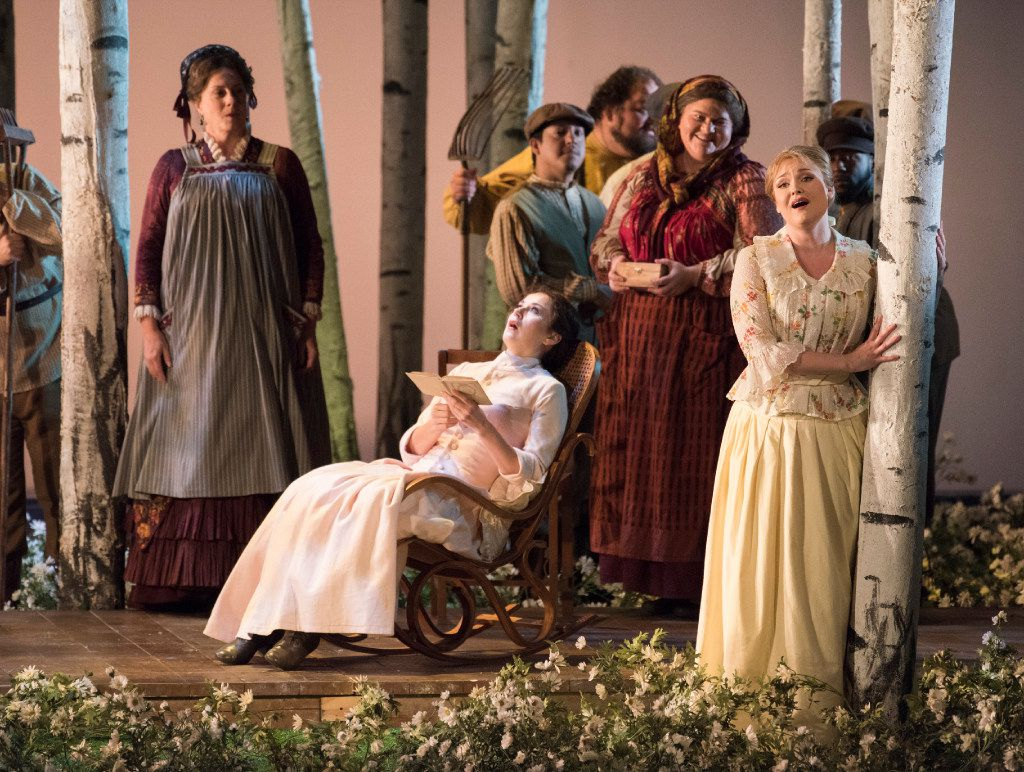 """The Dallas Opera held a dress rehearsal of Tchaikovsky's """"Eugene Onegin"""" at the Winspear Opera House on Tuesday, Oct. 25, 2016.   (Rex C. Curry/Special Contributor)"""