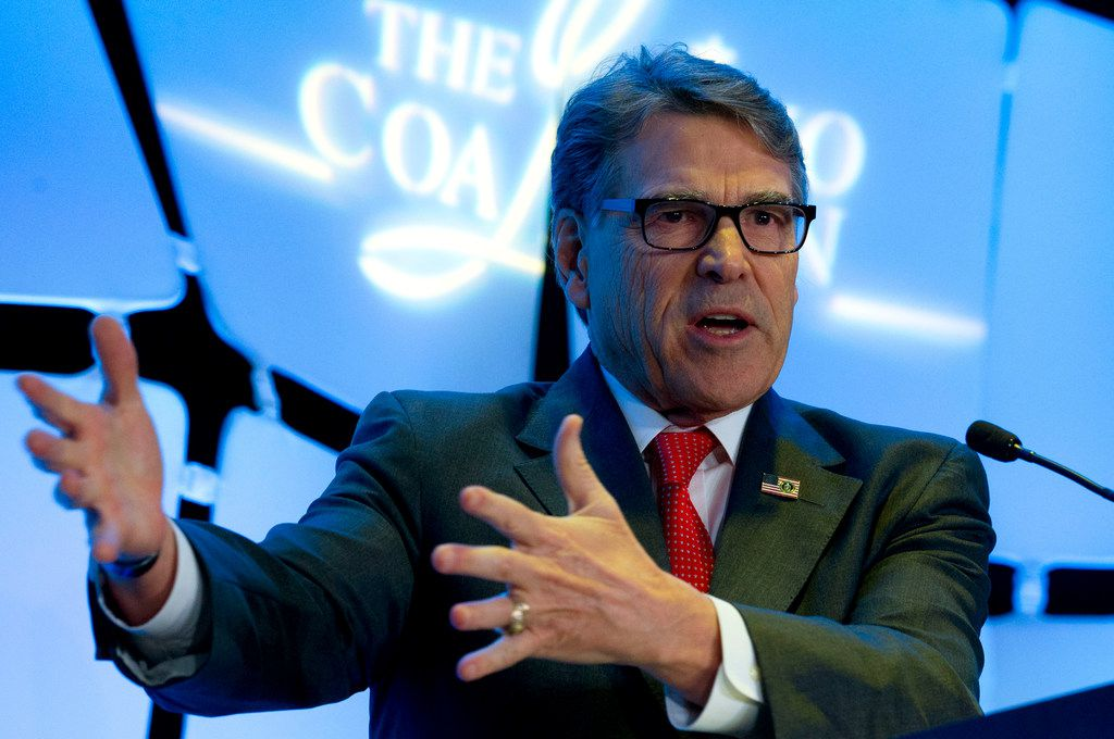 Energy Secretary Rick Perry speaks at Legislative Summit, co-hosted by The Latino Coalition and Job Creators Network, in Washington, Wednesday, March 6, 2019.