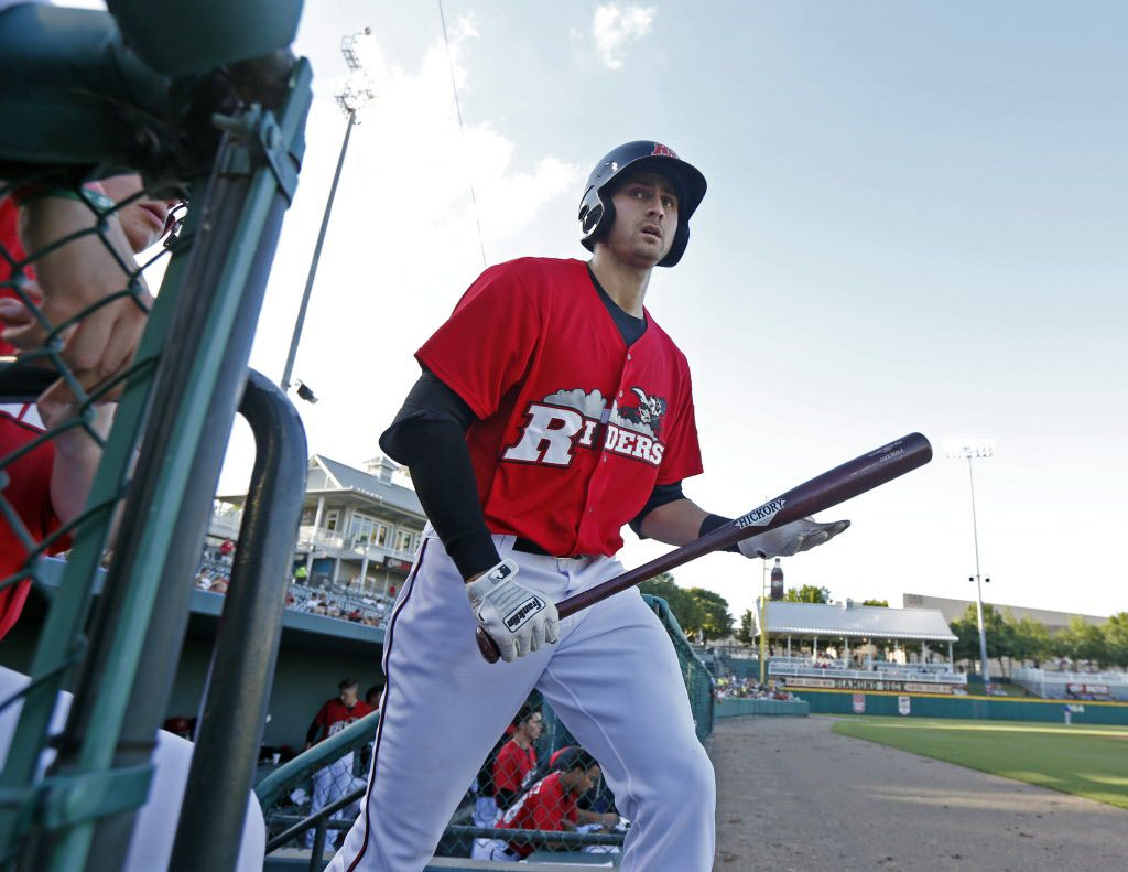 In this file photo from 2014, Joey Gallo prepares for his first at-bat as he debuts for the Frisco Roughriders at Dr Pepper Ballpark in Frisco, on June 09, 2014. (Michael Ainsworth/The Dallas Morning News)