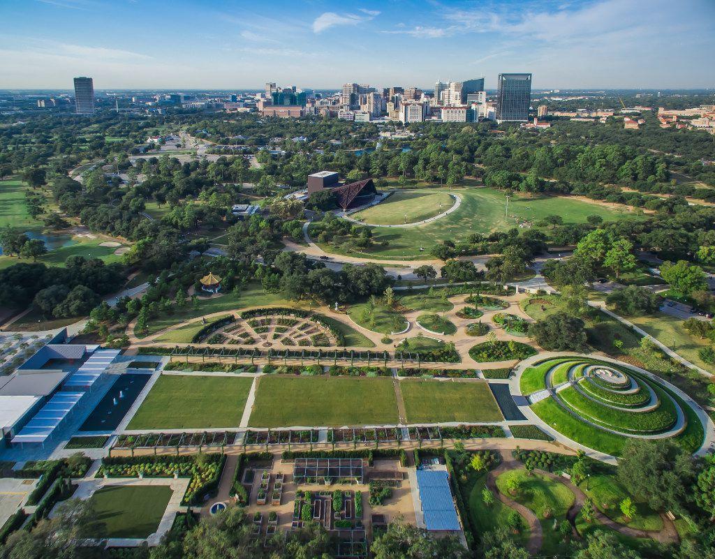 Aerial view of Hermann Park in Houston