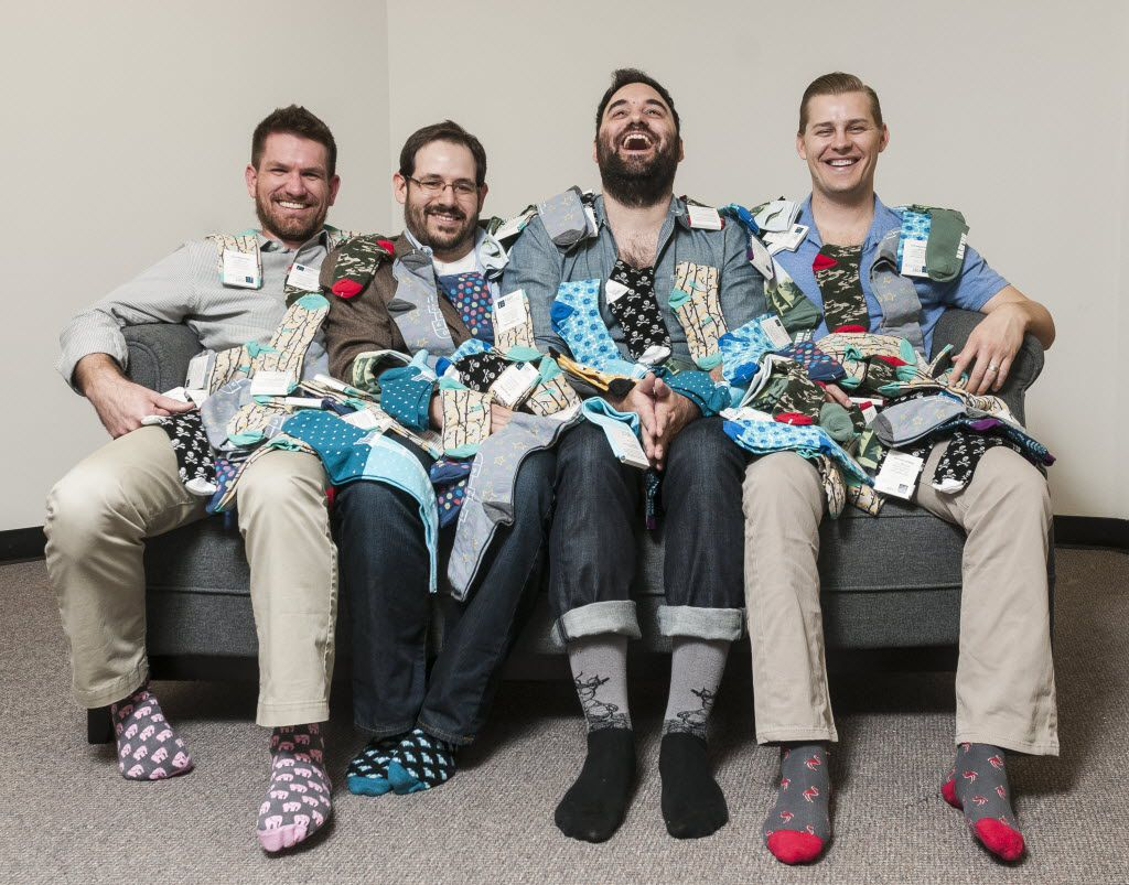 From left:  Tom Browning, Matt McClard, Bryan DeLuca and Kelly Largent started Foot Cardigan in 2012, they now have over 30,000 subscribers.