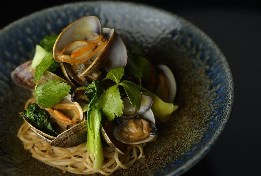 Sauteed clams at Nobu Dallas
