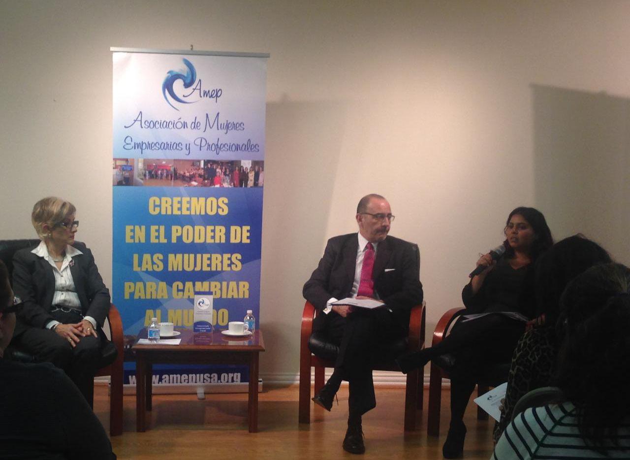 """El primer """"Café con el Cónsul"""" del 2015 fue patrocinado por la Asociación de Mujeres Empresarias y Profesionales (AMEP)."""