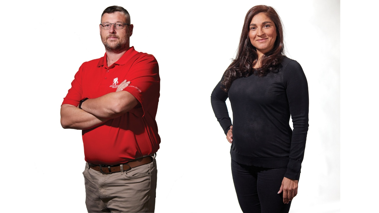 Veterans Kevin Bowden and Jennifer Sustarich reflect on their military service and involvement with the Wounded Warrior Project.