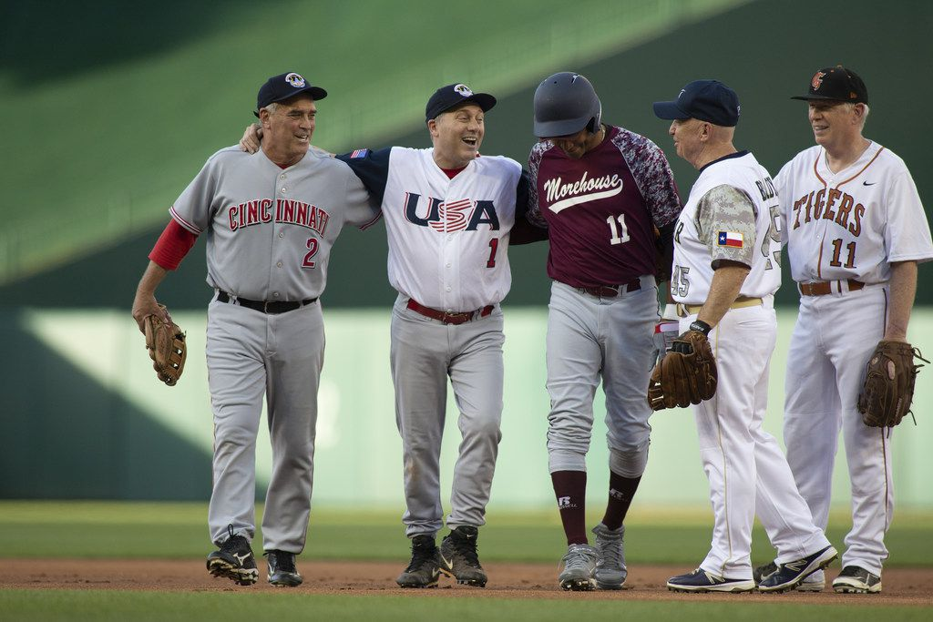 WASHINGTON, DC - JUNE 14: Rep Steve Scalise (R-LA) (C) is helped off the field by Rep Cedric Richmond (D-LA) (R) and Rep Bran Wenstroup (R-OH) (L) after playing second base during the Congressional Baseball Game on June 14, 2018 in Washington, DC. Scalise was shot during a team practice before last years game. This is the 57th annual game between the Republicans and Democrats. (Photo by Alex Edelman/Getty Images)