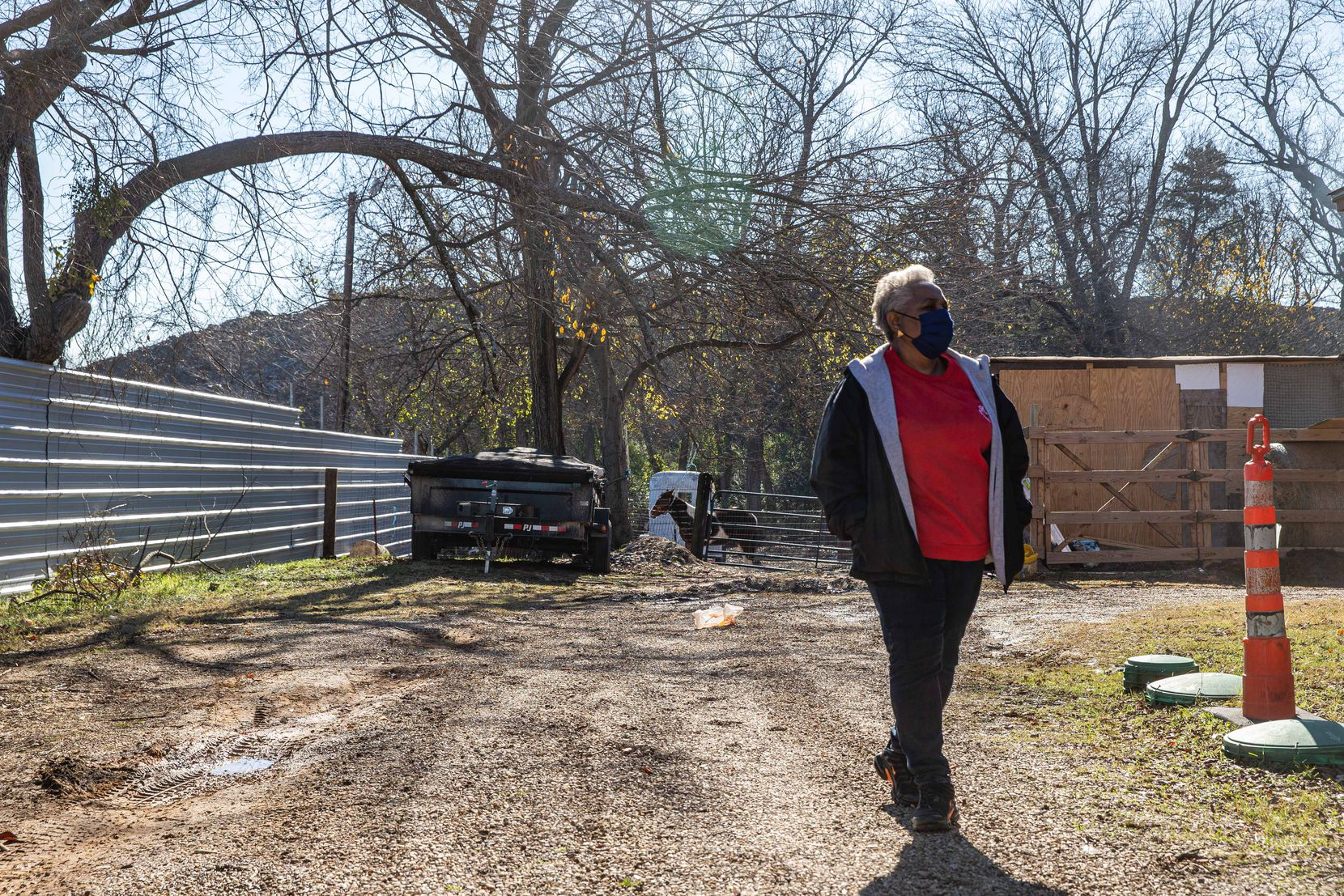 Marsha Jackson discussed the removal of Shingle Mountain in mid-December.