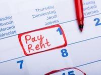Un calendario con la fecha para pagar la renta.