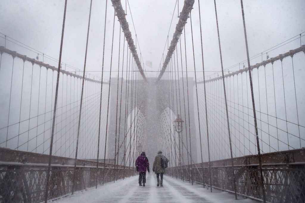 A heavy snowstorm can make it feel as if you have the Brooklyn Bridge all to yourself.