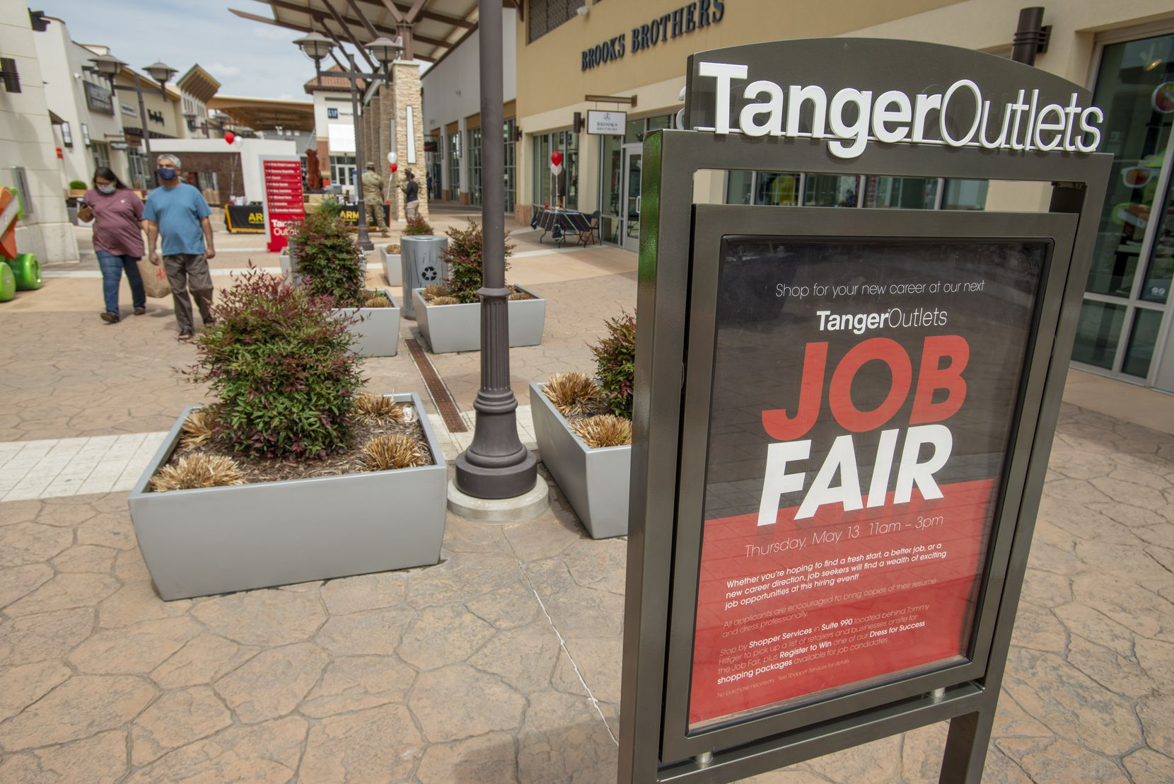 Tanger Outlets hosts a a job fair at Fort Worth, Texas location on May 13, 2021. (Robert W. Hart/Special Contributor)