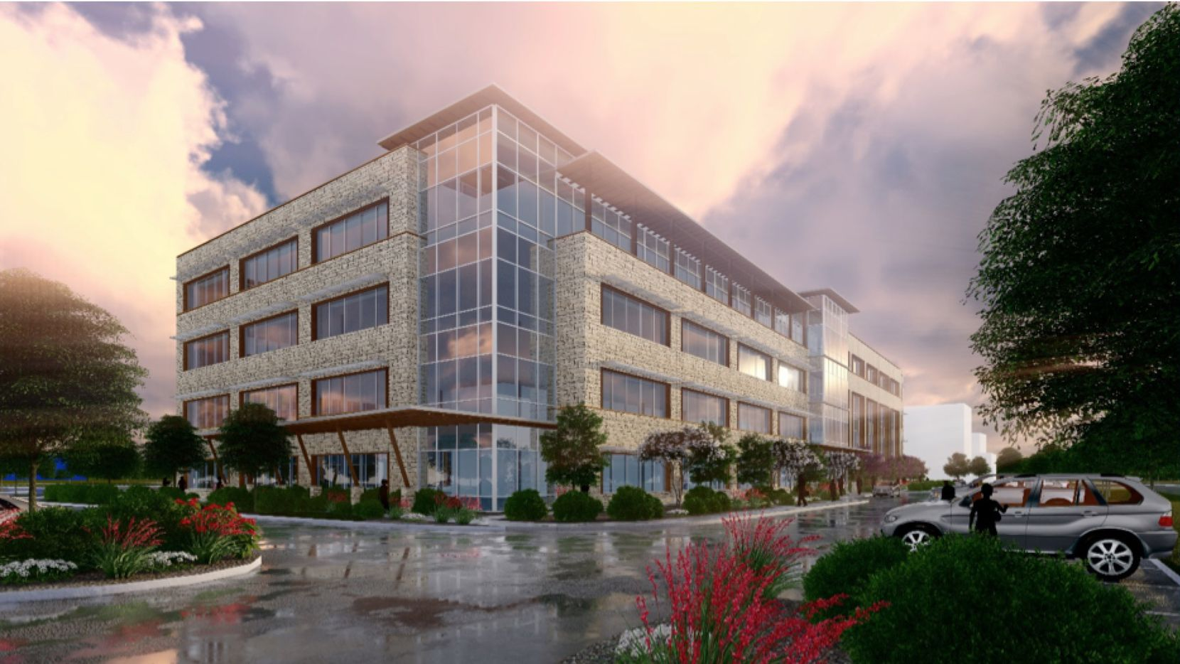 Cawley Partners' new Mayfield Groves office building is on S.H. 161.