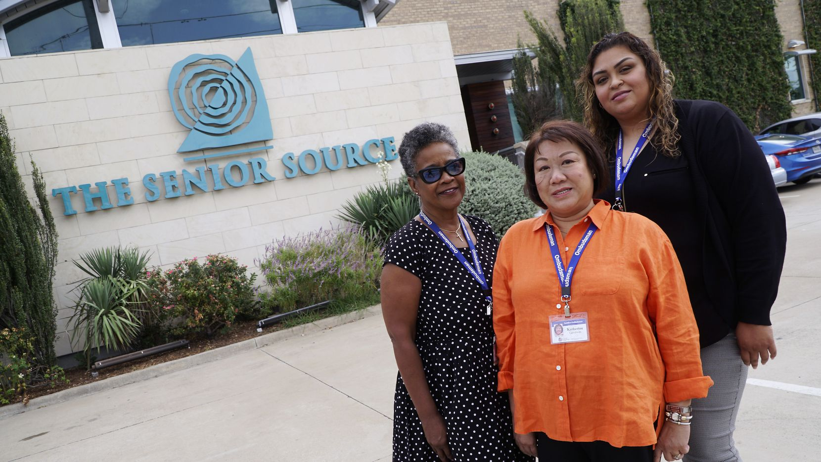 Senior Source Ombudsmen (from left) Pam Mickens, Katherine Goodwin, and Rosie Vega at their office in Dallas, Texas on Thursday, October 10, 2019.