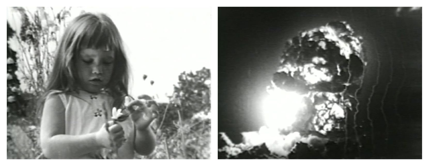 "Probably the most famous campaign commercial of all time, ""Daisy Girl"" – actually titled ""Peace, Little Girl"" – was made by the Democratic National Committee for President Lyndon B. Johnson in his race against Sen. Barry Goldwater. The ad juxtaposed a little girl plucking petals off a flower with a countdown to a nuclear explosion in an attempt to characterize Goldwater as an extremist who couldn't be trusted with America's national security. It aired only once as a paid ad, in September 1964."