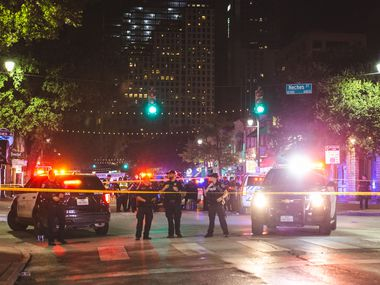 Interim Austin Police Chief Joseph Chacon said the shooting happened about 1:30 a.m. in the 400 block of East Sixth Street, a popular entertainment district lined with bars and restaurants.