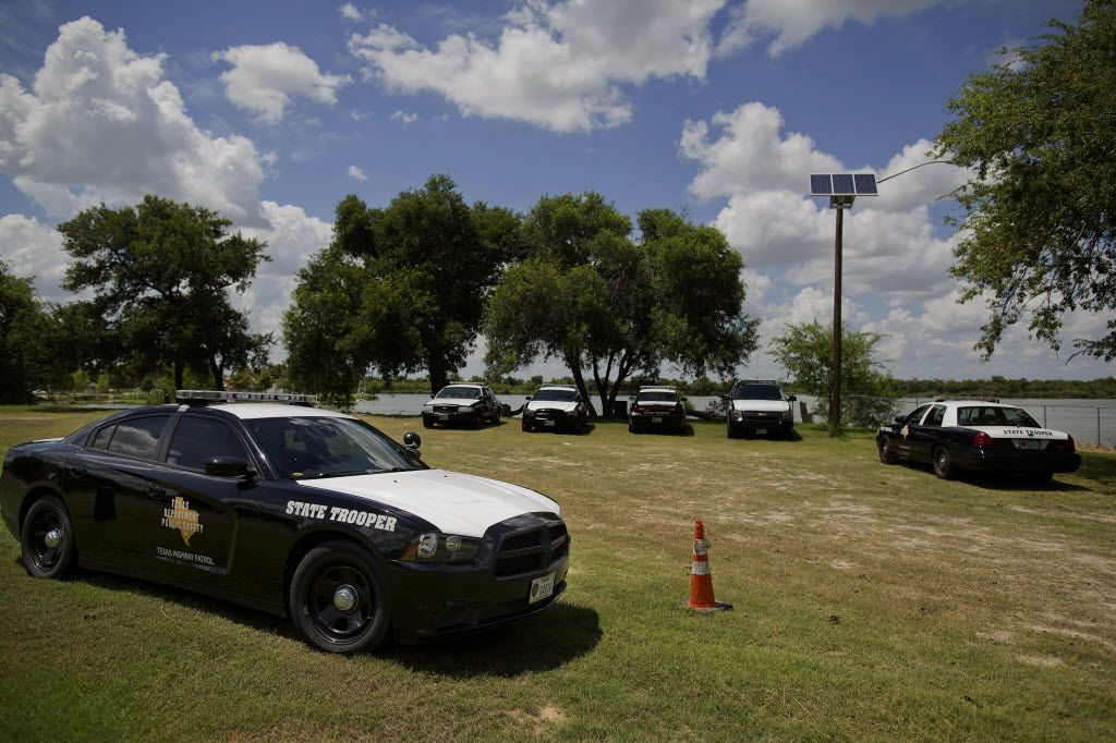Texas Department of Public Safety troopers have become a permanent part of the landscape in the Rio Grande Valley, thanks to a massive state investment in border security. (Victor J. Blue/Bloomberg)