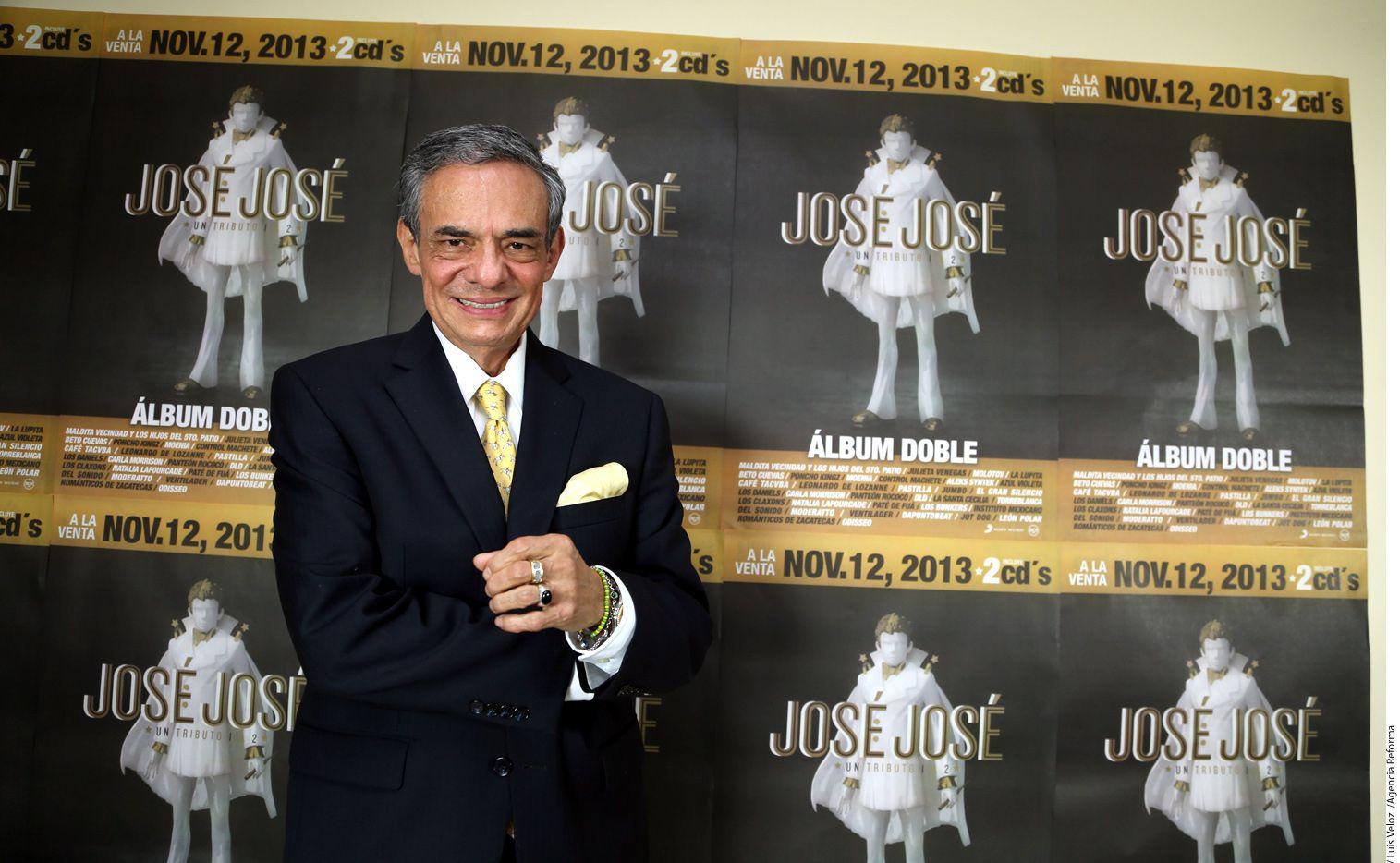 Al cantante José José, de 69 años, se le practican varios estudios para determinar el tratamiento al que será sometido./ AGENCIA REFORMA