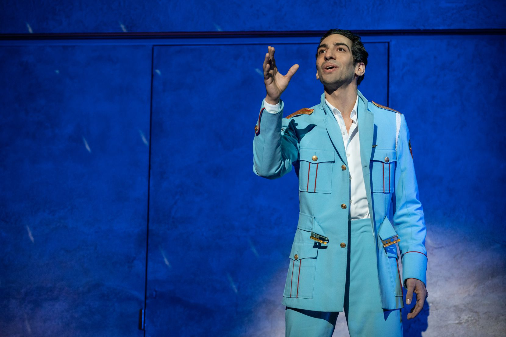 """Joe Joseph plays a member of an Egyptian police band that gets stuck in a small Israeli town in the musical """"The Band's Visit."""""""
