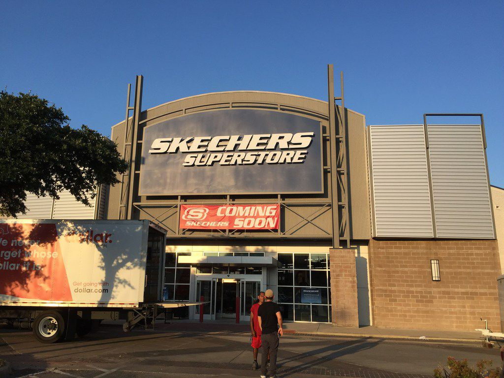 Shoe retailer Skechers is opening in part of the former Sports Authority at 9100 N. Central Expressway in Dallas on July 27, 2018.