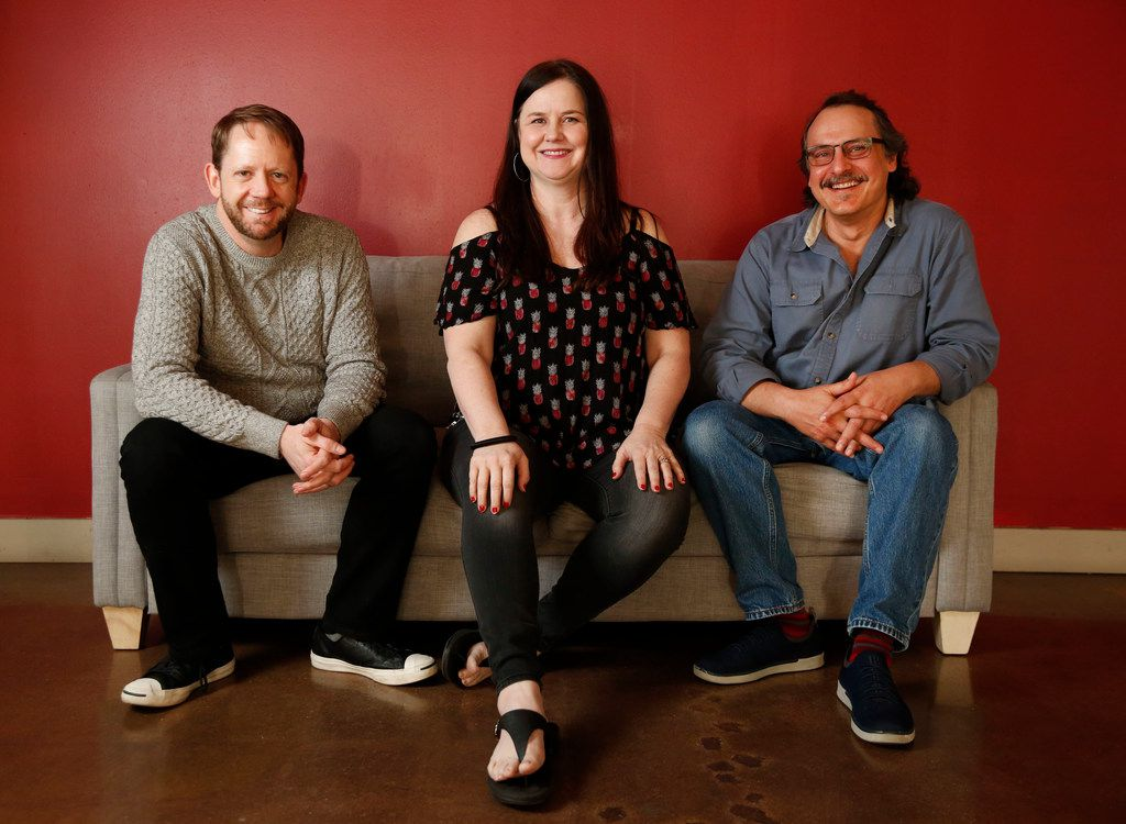 From left: Kitchen Dog Theater's managing director Tim Johnson, and co-artistic directors Tina Parker and Chris Carlos took a chance on commissioning Pompeii!!, a new musical created by company members at the Trinity River Arts Center in Dallas.