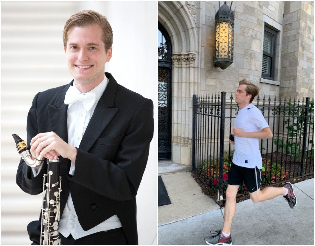 Andrew Sandwick, who won a postion in the clarinet section of the Dallas Symphony Orchestra, follows a strict schedule leading up to each audition.