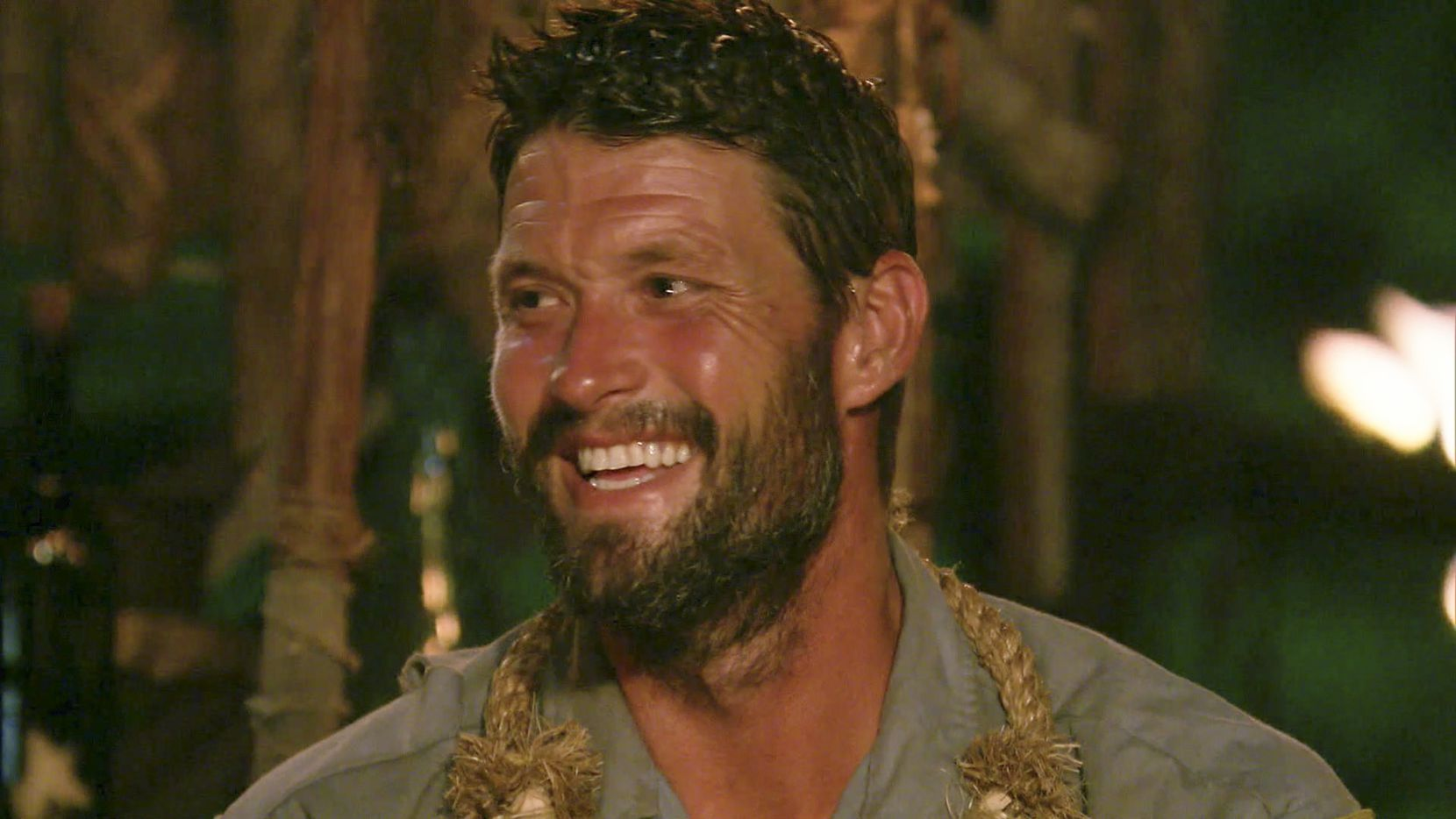 Mike Holloway at Tribal Council during the final episode.