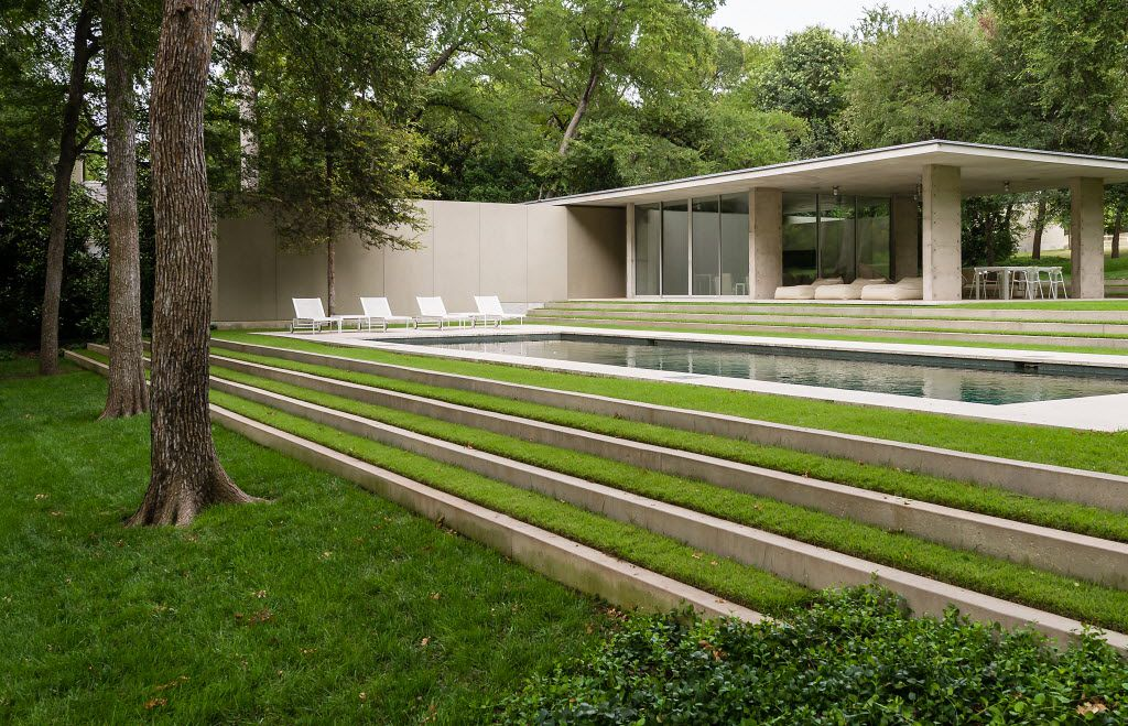 Architect Philip Johnson's only Dallas house, known as the Beck House, is listed for $23 million