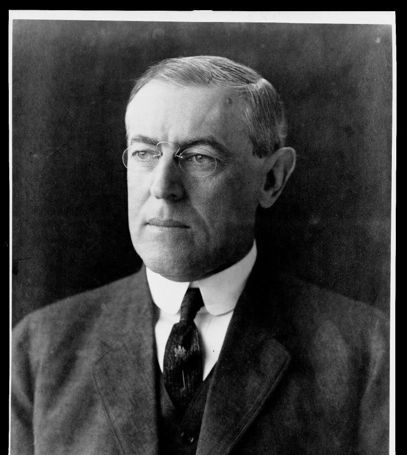 28th President, Woodrow Wilson, in office 1913-1921.
