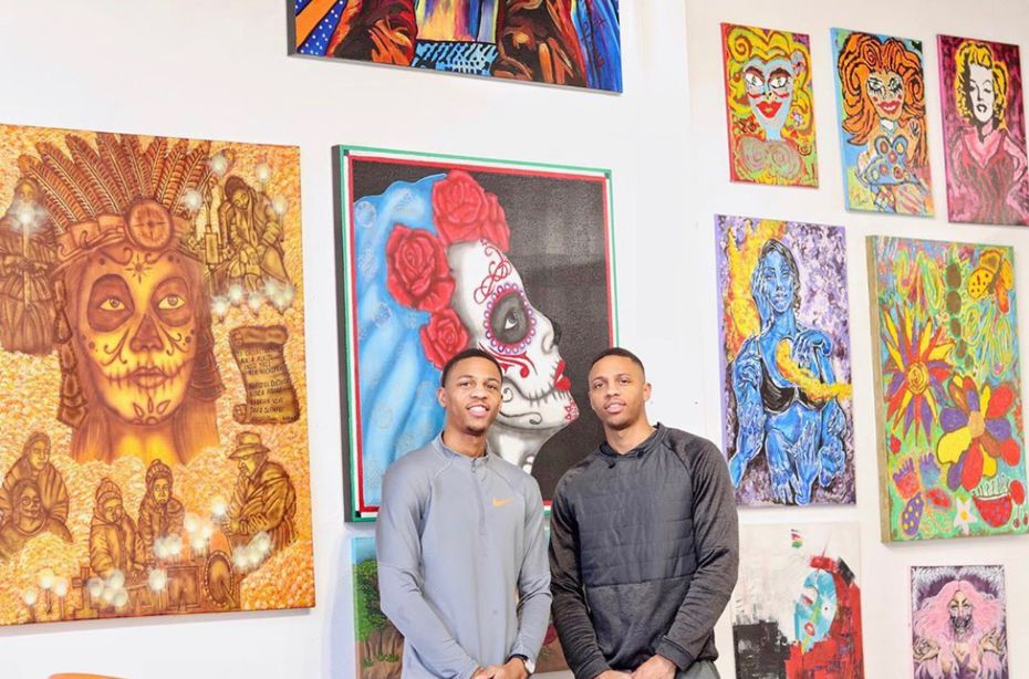 The Wright Art Twins Gallery, founded by local artists and brothers Princeton (left) and Preston Wright, is hosting its second Latin Art Show this November.