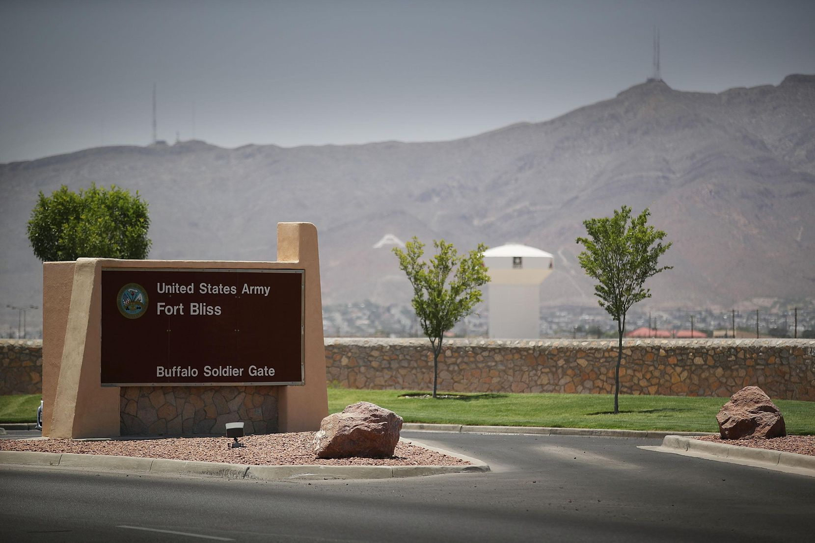 The entrance to Fort Bliss in El Paso