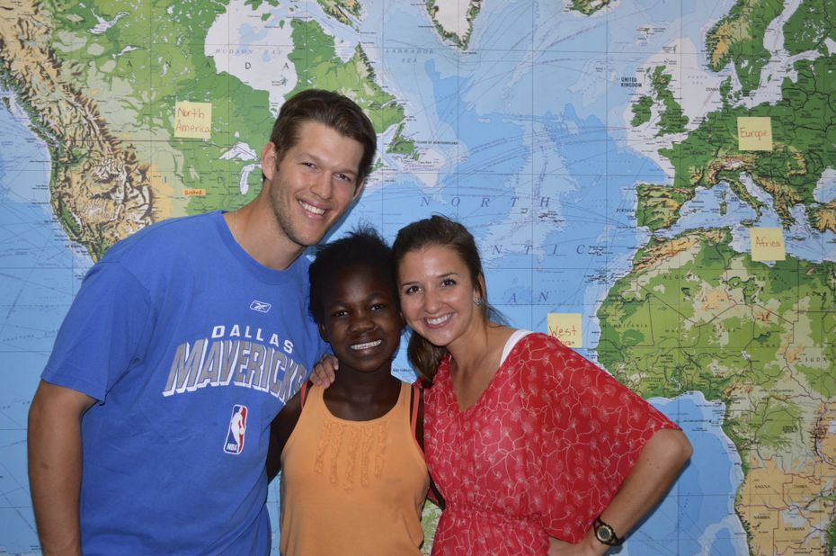 From left: Clayton Kershaw, Hope and Ellen Kershaw.