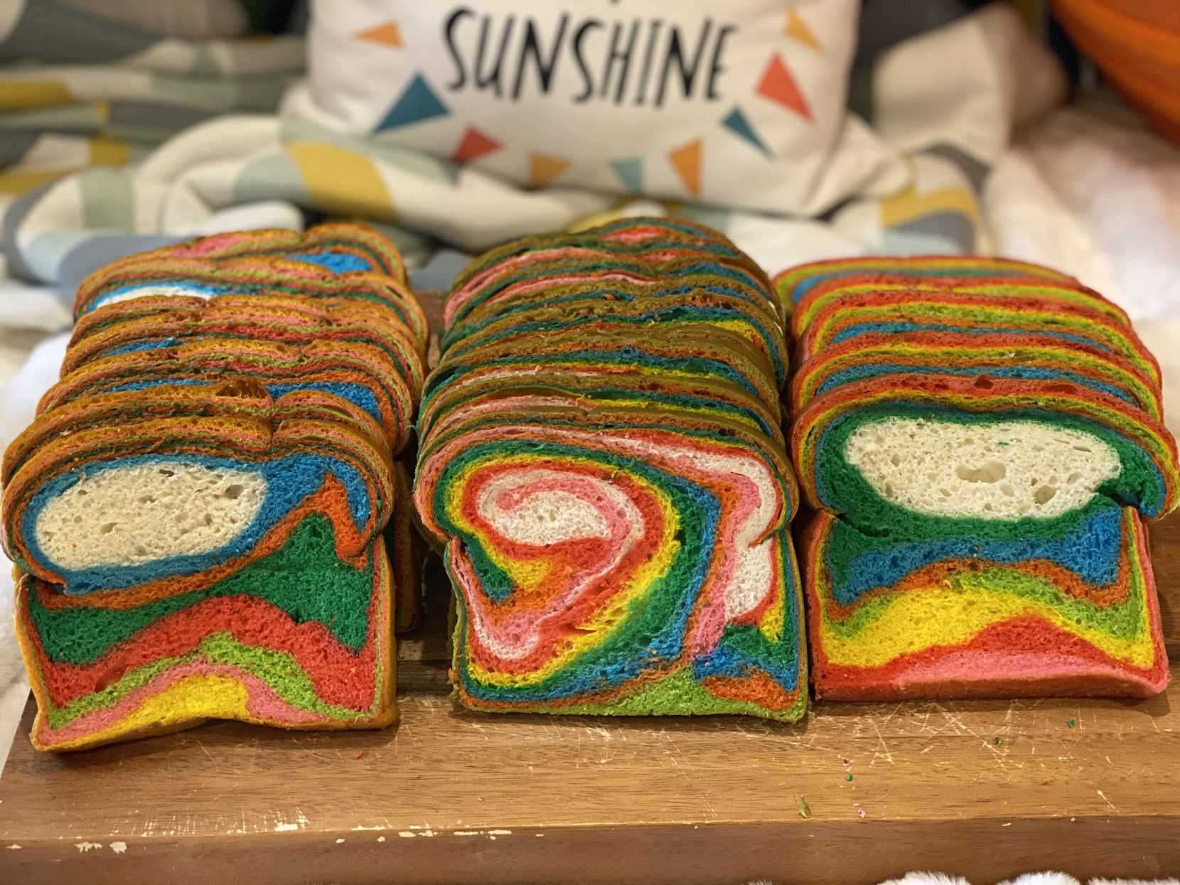 Customers can choose to add a rainbow loaf to their Easter BUNny Bundle when ordering from Signature Baking Co. this spring.
