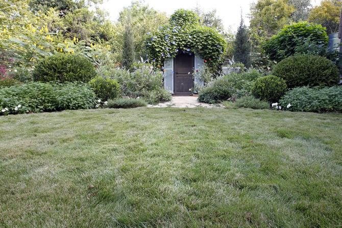 Munsterman centered the backyard and the chicken coop on the back door of the house, so the area would be symmetrical.