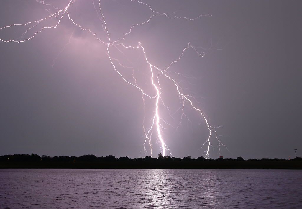 A tremendous display of cloud-to-cloud and cloud-to-ground lightning was seen over Denton in 2013 from North Lakes Park. (File Photo/Denton Record-Chronicle)