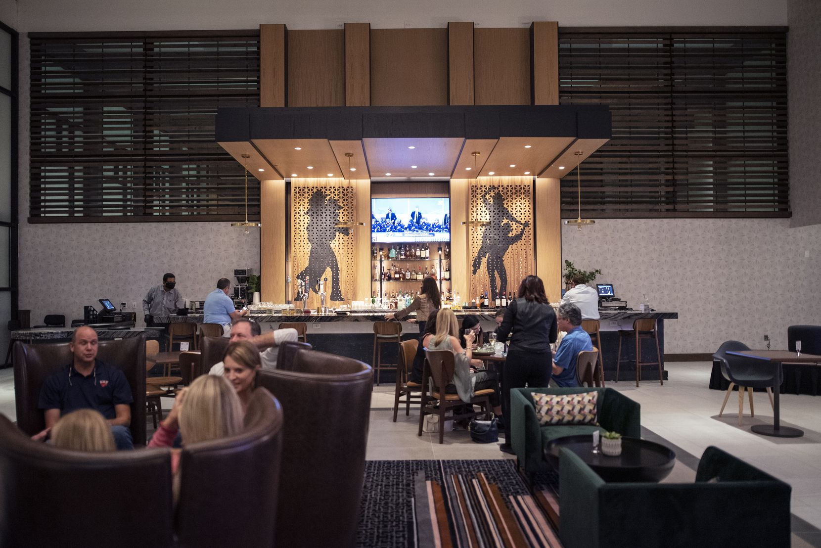 The main dining area at Seely's Mill is located inside the Beeman Hotel in Dallas.