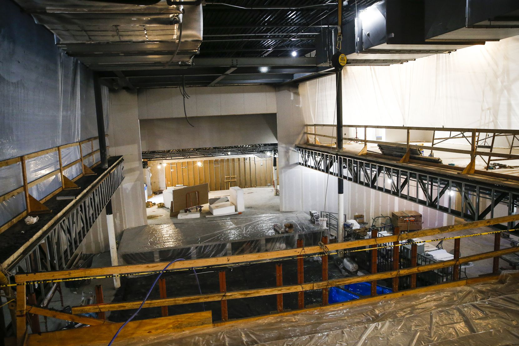 Construction crews are working at the new Live Nation concert venue, The HiFi Dallas, which is set to open in Dallas' Design District in May.