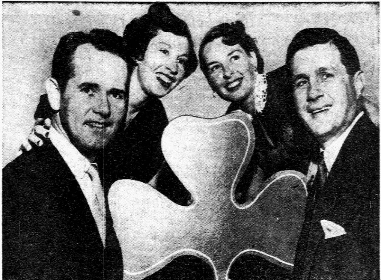 """An archive photo from March 15, 1953: """"Hibernians will stage St. Patrick's Day Ball"""""""