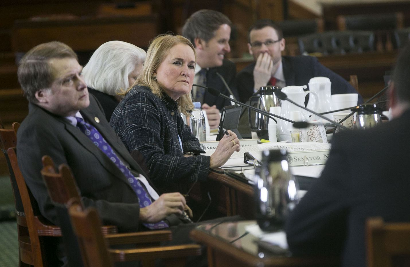 Sen. Sylvia Garcia, D-Houston, listens to testimony at the Texas Capitol on Thursday, February 2, 2017.