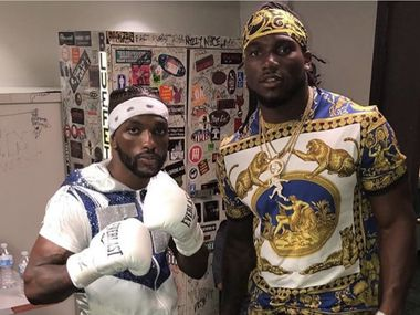 Frank Martin (left) is a cousin to Cowboys LB Jaylon Smith. Martin, a lightweight, is fighting on the Errol Spence-Danny Garcia undercard.