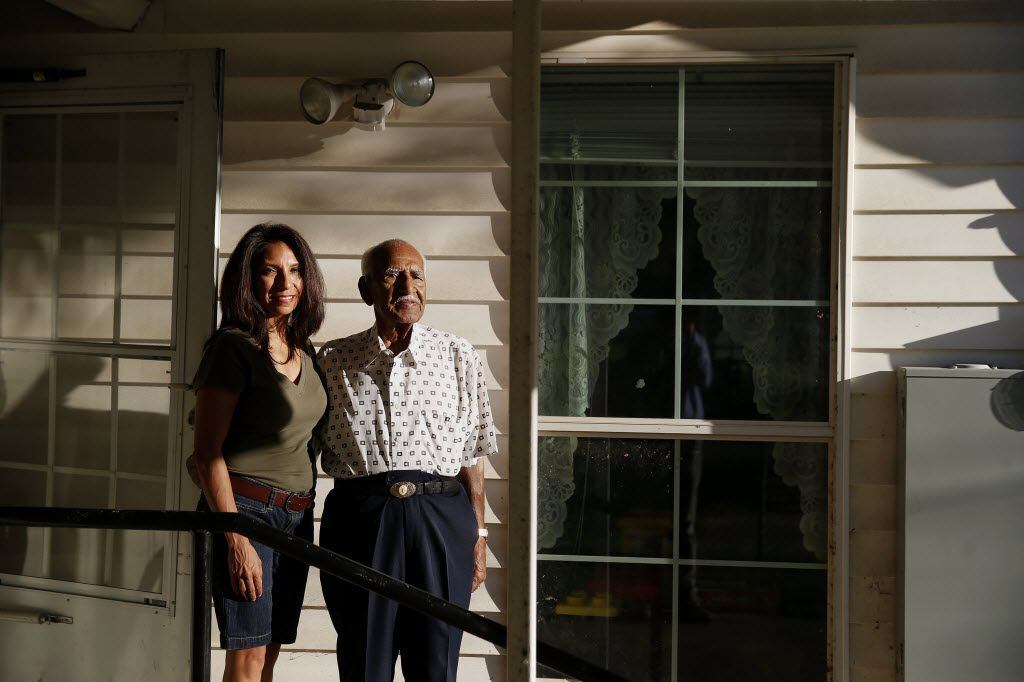 In June of this year, Maria G. Garcia stood with her father Feliz H. Lozada Sr. at the family home in the La Bajada neighborhood of West Dallas.