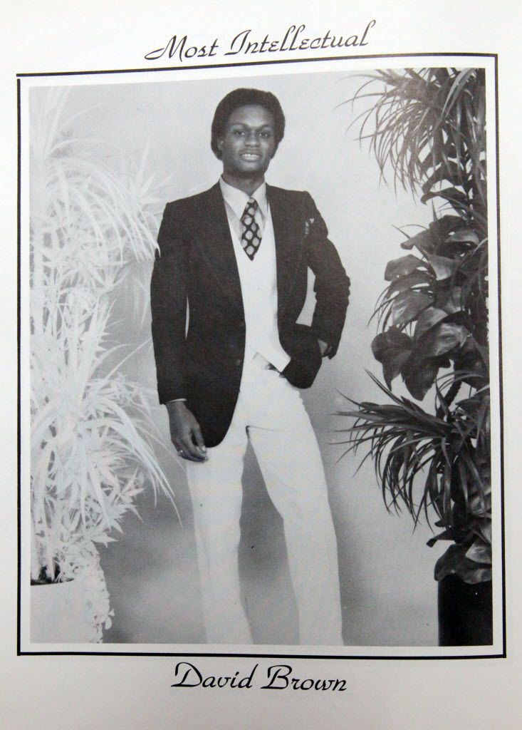 Dallas Police Chief David Brown in a personal photo posted to Twitter for Throwback Thursday for South Oak Cliff High School.
