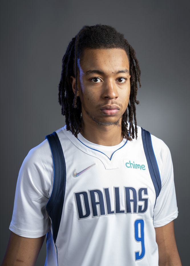 Dallas Mavericks center Moses Brown (9) poses for a portrait during the Dallas Mavericks media day, Monday, September 27, 2021 at American Airlines Center in Dallas. (Jeffrey McWhorter/Special Contributor)