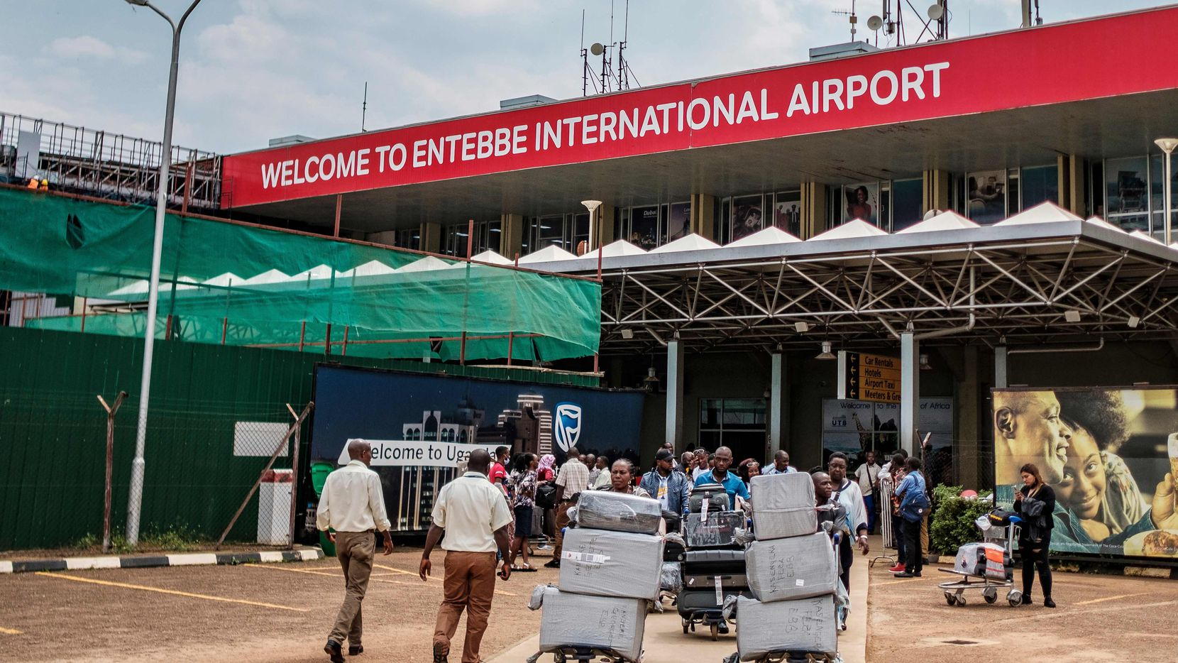 Entebbe Airport in Uganda on March 3, 2020.