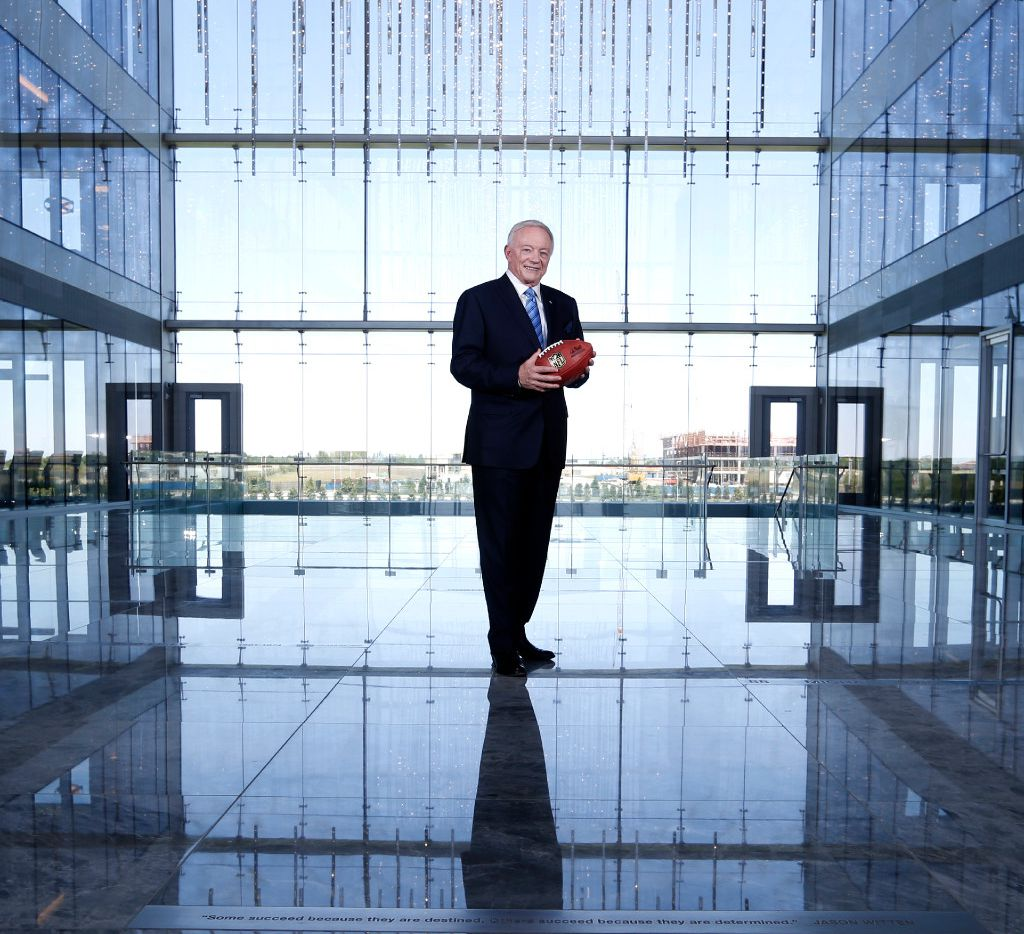Dallas Cowboys owner and general manager Jerry Jones poses for a portrait at The Star in Frisco on Sunday, May 7, 2017. (Vernon Bryant/The Dallas Morning News)