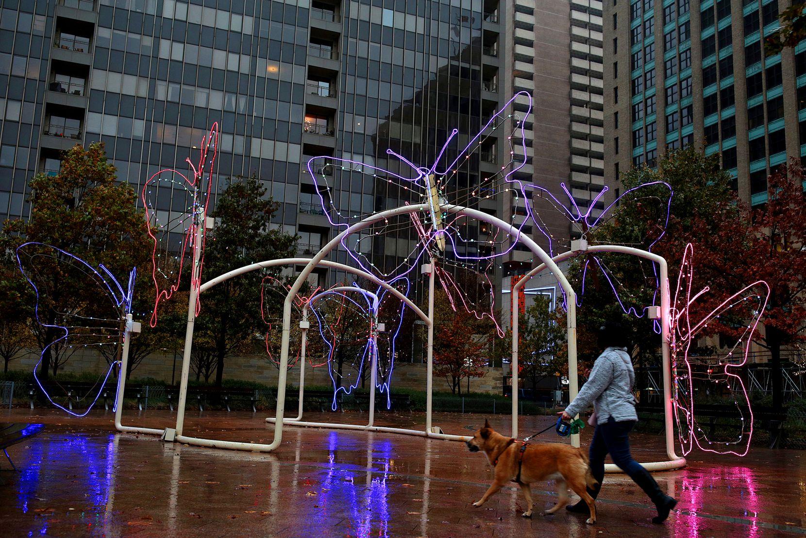 Exhibición de lucecitas en Belo Garden, en diciembre de 2020.