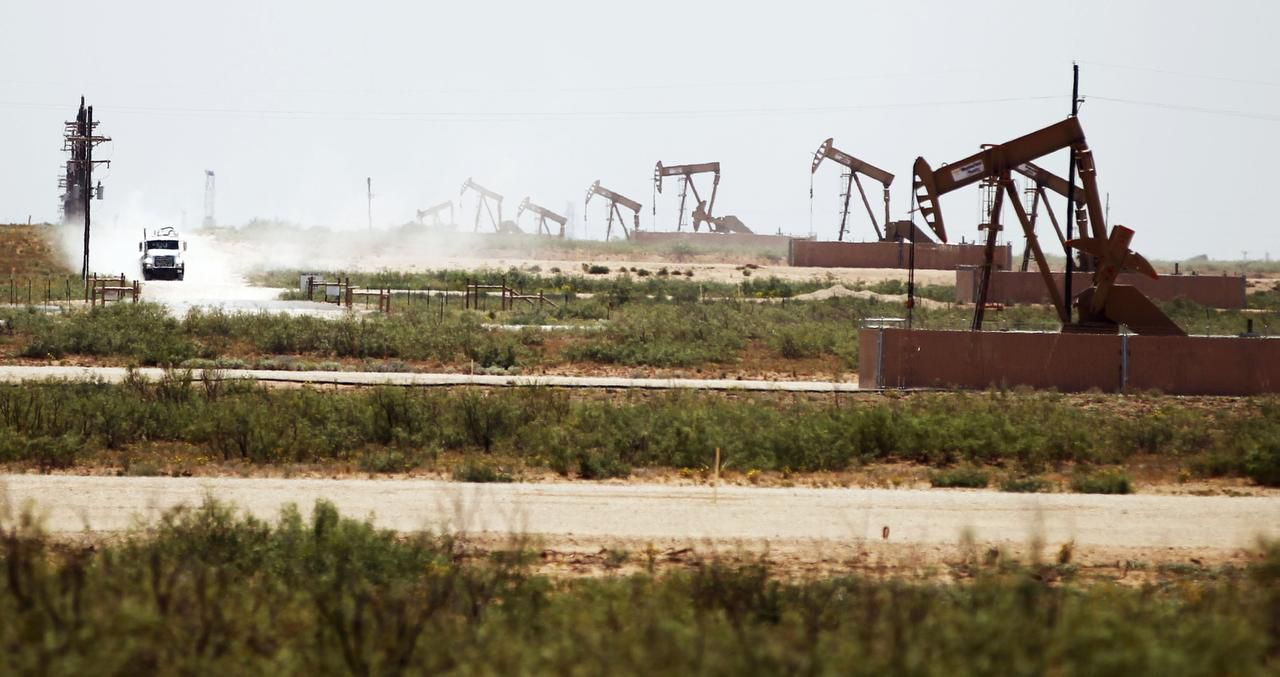 File photo of pumping jacks  that extracted oil near Midland Texas.