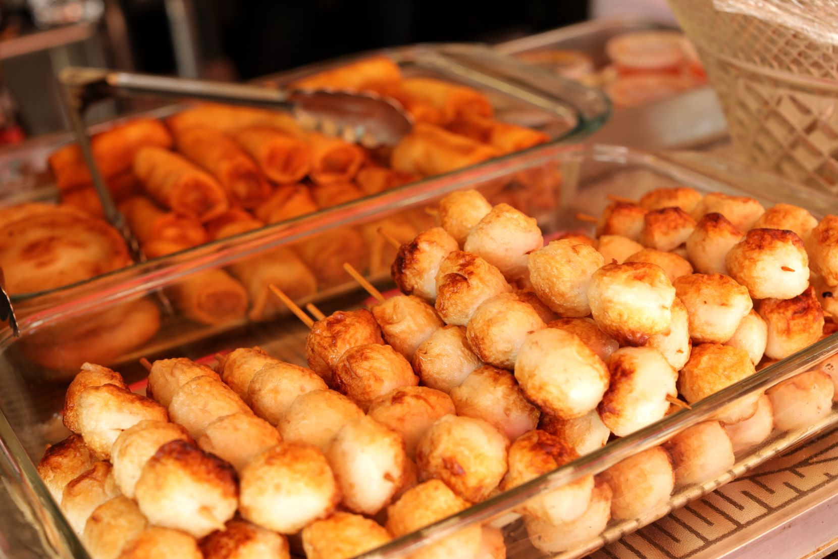 The Sunday market offers authentic Thai street food.