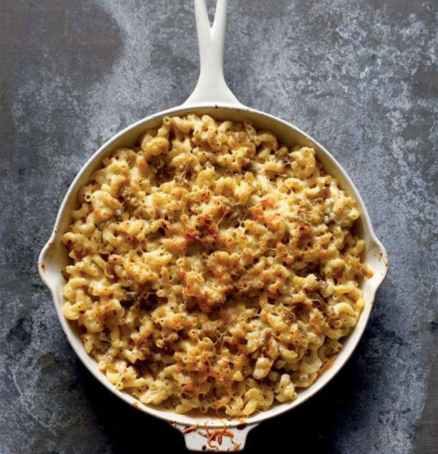 White Cheddar-Green Chile Mac and Cheese from 'Meatless in Cowtown,' the vegetarian cookbook Fort Worth writer Laura Meyn penned in 2015