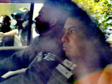 Aspecto del traslado de los implicados en feminicidio de Fátima.