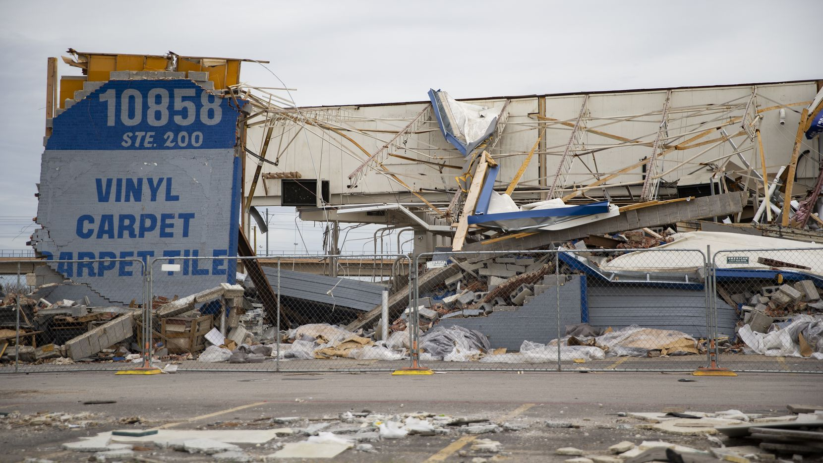 This photo was taken along Harry Hines Boulevard on Dec. 9 -- seven weeks after a tornado smashed through northwest Dallas.