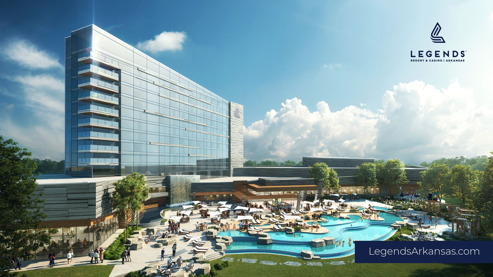 The Legends Resort & Casino Arkansas is proposed to be of the first full-service casinos in the state. Amenities would include 1200 slot machines, a 200-room luxury hotel and an outdoor water park.