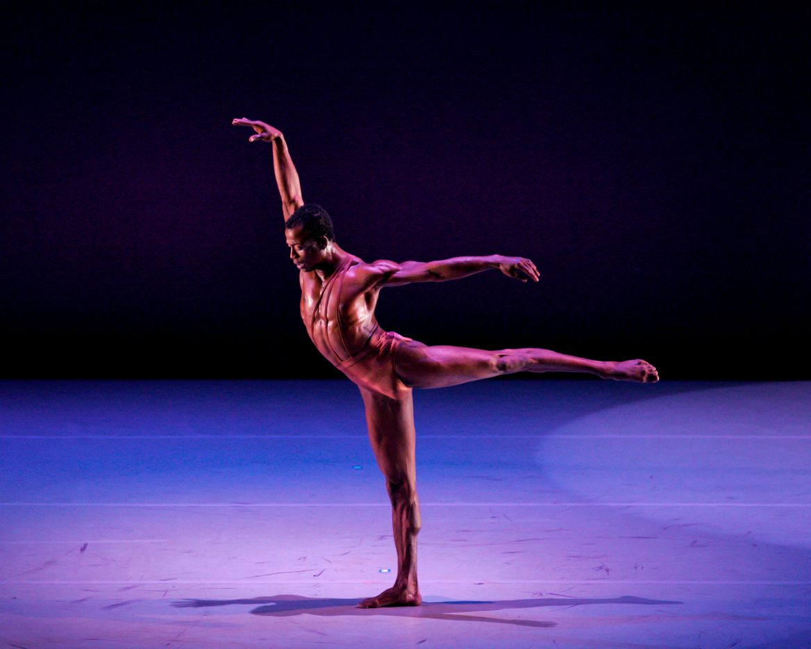 """Darrell Cleveland performs """"Evidence of Souls Unseen,"""" choreographed by Lloyd Whitmore, at Majestic Theater in 2005."""